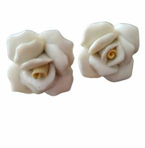 Vintage Ceramic stud earrings